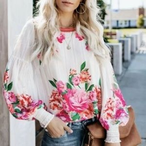 Beautiful Floral Chiffon Blouse